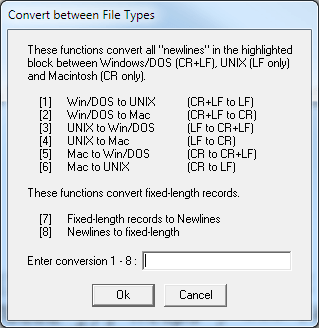vEdit converts between many file types