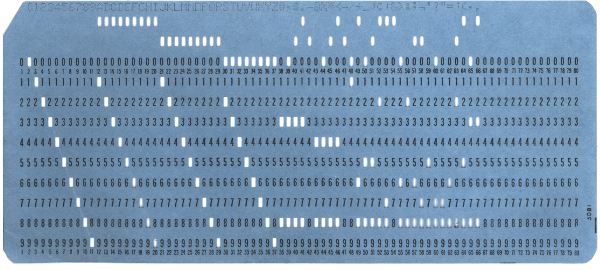 EBCDIC Punch Card